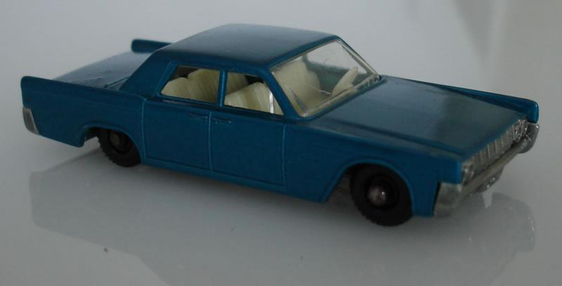 Matchbox Lesney 31C1 Lincoln Continental, metalic blue ...