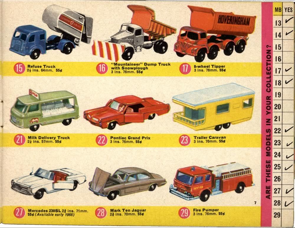 Matchbox lesney 1966 catalog regular wheel 15 refuse for Catalogo grand prix