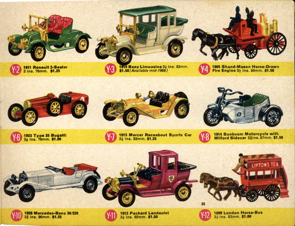 Matchbox Lesney 1966 catalog