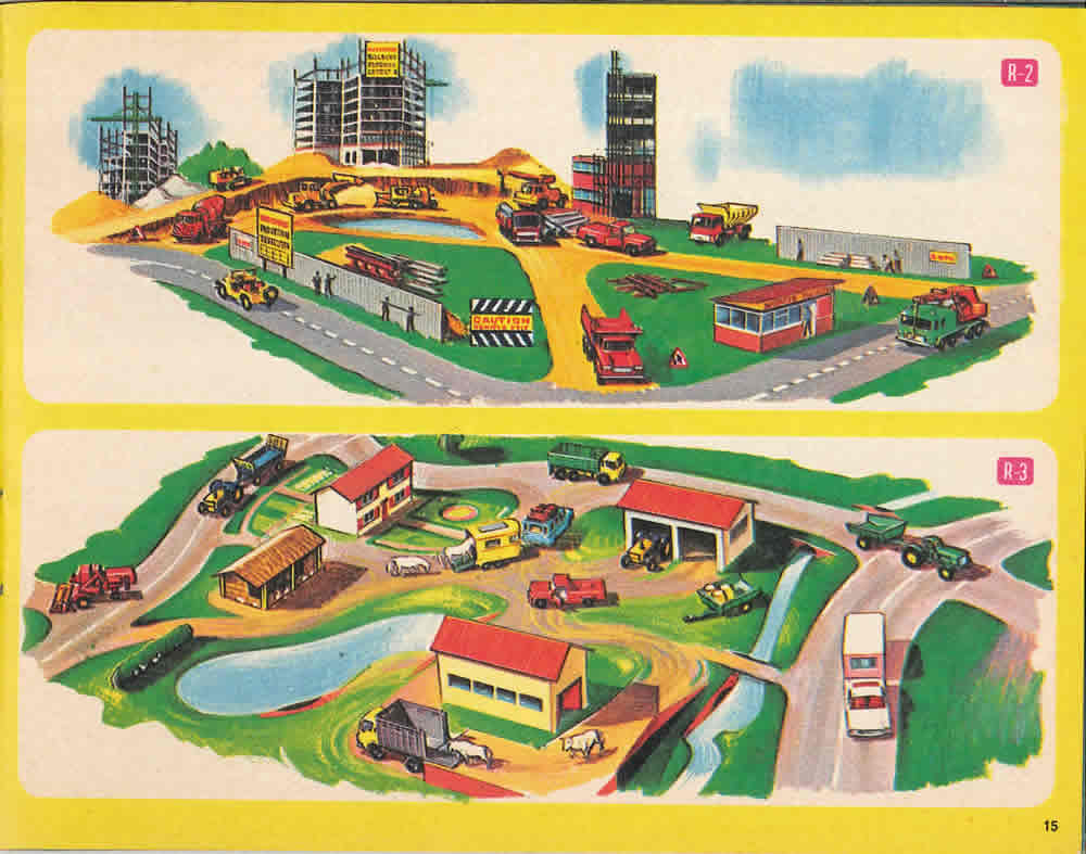 Matchbox Lesney 1968 Catalog Page 15 Roadway Sets From