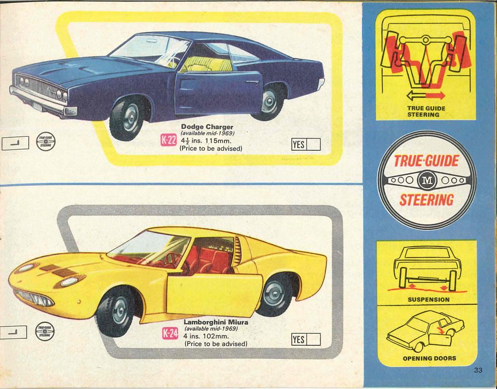 ... Page 33, Matchbox King Size K-22 Dodge Charger; K-24 Lamborghini Miura