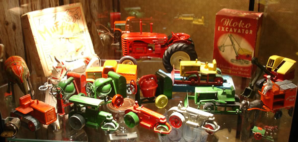 Lesney toys displayed at Charlie Mack's museum