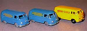 34A Volkswagen 15 cwt Van left and center, Duplo on right