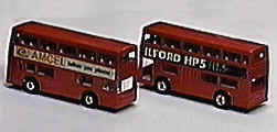 """Londoner"" double decker bus with promotional labels"