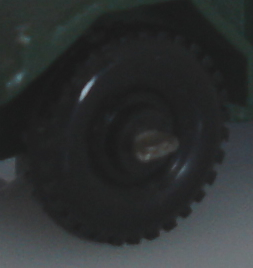 knobby black plastic wheel, 61A Ferret Scout Car